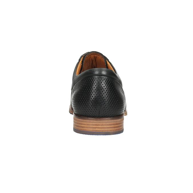 Kožené poltopánky s modrou podrážkou bata, čierna, 824-6631 - 15