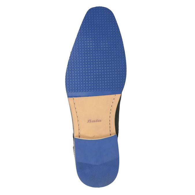Kožené poltopánky s modrou podrážkou bata, čierna, 824-6631 - 19