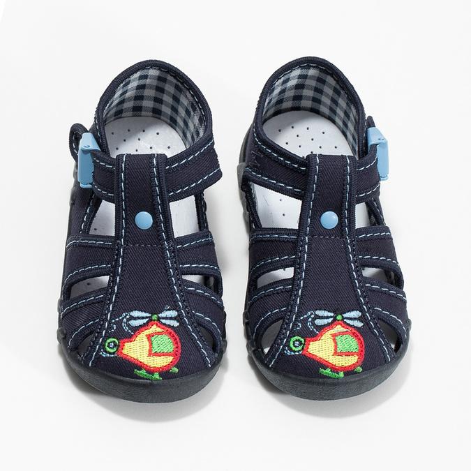 Chlapčenská domáca modrá obuv mini-b, modrá, 179-9601 - 16