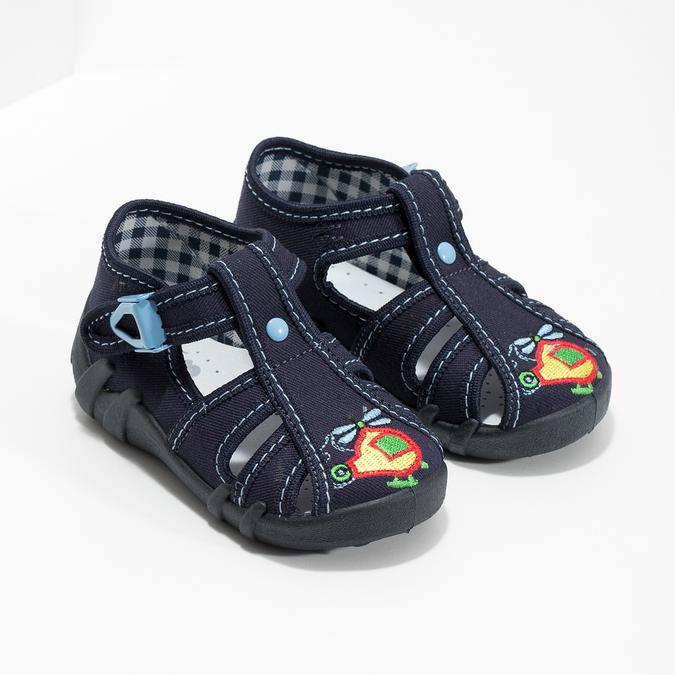 Chlapčenská domáca modrá obuv mini-b, modrá, 179-9601 - 26