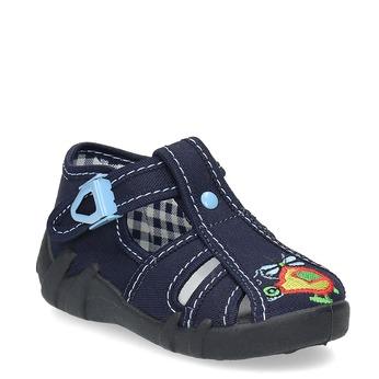 Chlapčenská domáca modrá obuv mini-b, modrá, 179-9601 - 13