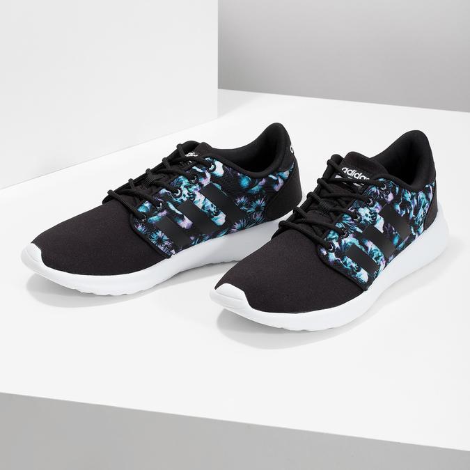 Tenisky s farebným kvetinovým vzorom adidas, čierna, 509-6212 - 16