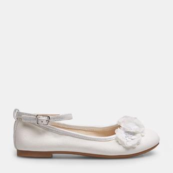 Dievčenské biele baleríny s kytičkami mini-b, biela, 321-1162 - 13