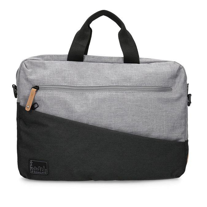 Šedá taška na notebook roncato, šedá, 969-2697 - 26