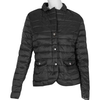 Čierna dámska bunda s golierom bata, čierna, 979-6182 - 13