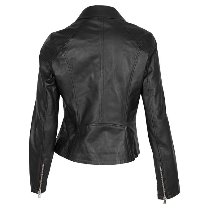 Kožená dámska bunda bata, čierna, 974-6123 - 26