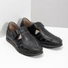 Kožené sandále s prešívaním fluchos, čierna, 864-6605 - 26