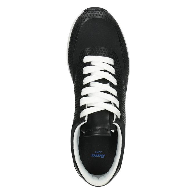 Čierne dámske tenisky bata-light, čierna, 549-6605 - 15