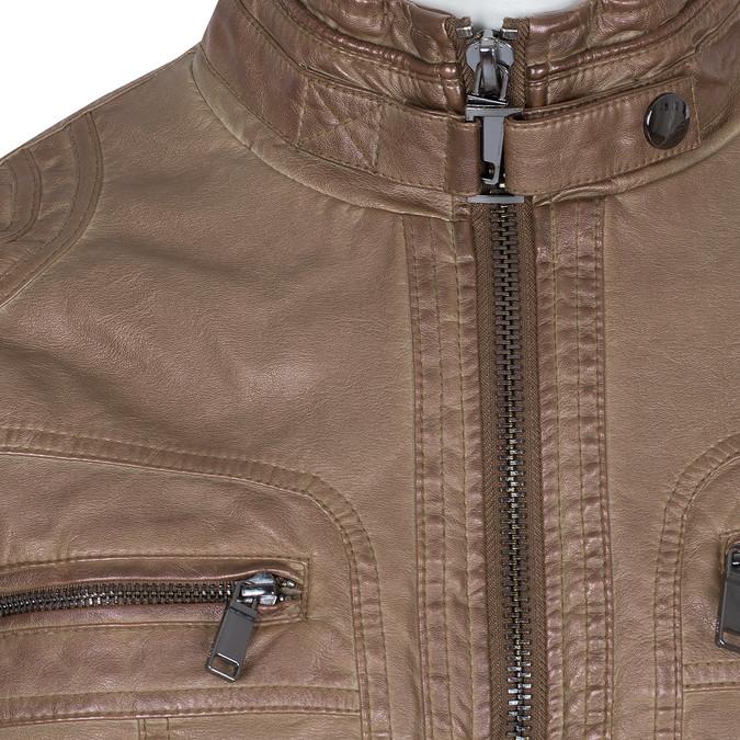 Hnedá pánska bunda z koženky bata, hnedá, 971-3194 - 16