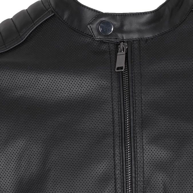 Pánska bunda s prešitím na ramenách bata, čierna, 971-6118 - 16