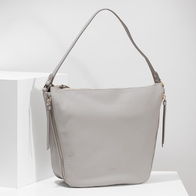 Hobo kabelka so zipsami gabor-bags, šedá, 961-8002 - 17