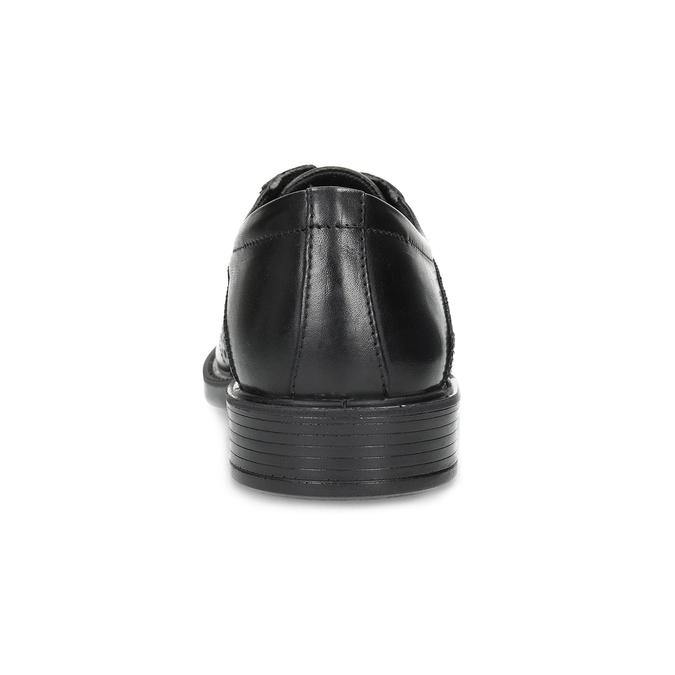 Kožené poltopánky s Brogue zdobením comfit, čierna, 824-6942 - 15