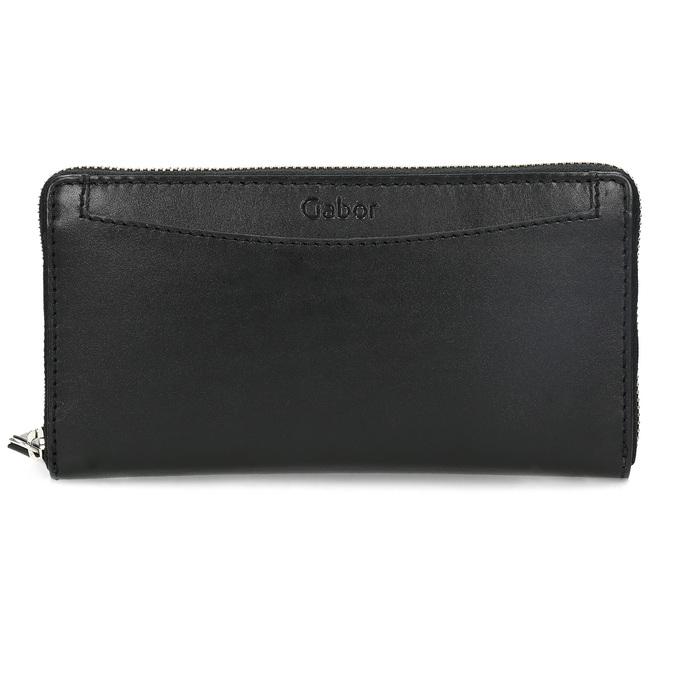 Čierna dámska kožená peňaženka gabor-bags, čierna, 946-6003 - 26