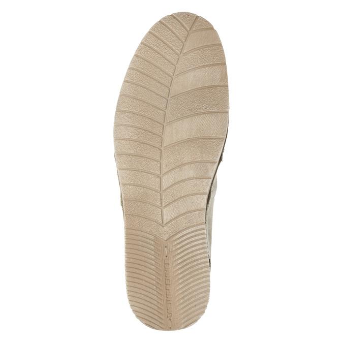 Kožená dámska Slip-on obuv weinbrenner, béžová, 536-8607 - 19