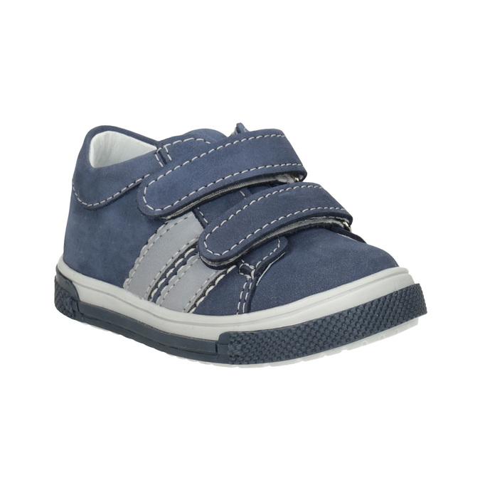Kožená detská obuv na suchý zips bubblegummers, 116-9607 - 13