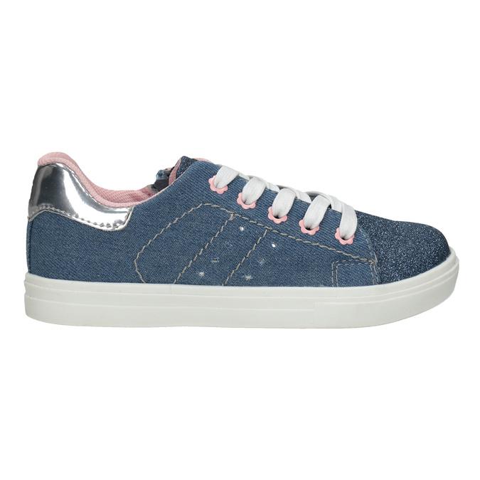 Dievčenské tenisky s prešitím mini-b, modrá, 229-9600 - 16