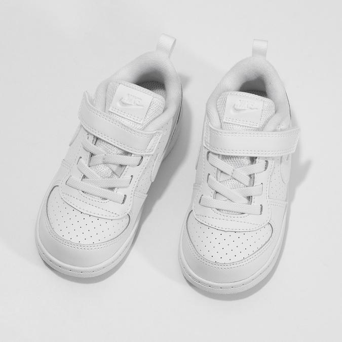 Biele detské tenisky so suchým zipsom nike, biela, 101-1154 - 16