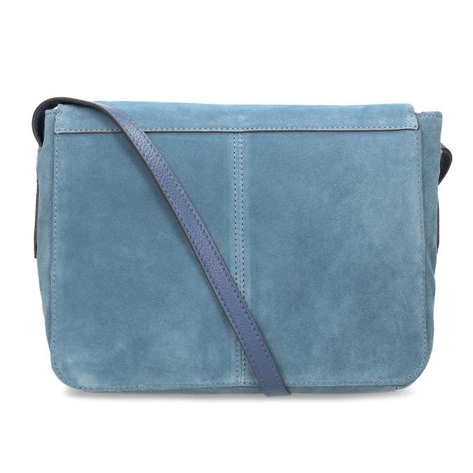 Modrá kožená Crossbody kabelka bata, modrá, 963-9127 - 16