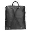 Čierny kožený batoh so zipsami bata, čierna, 964-6259 - 16