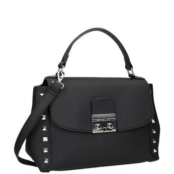 Čierna crossbody kabelka s cvočkami bata, čierna, 961-6279 - 13