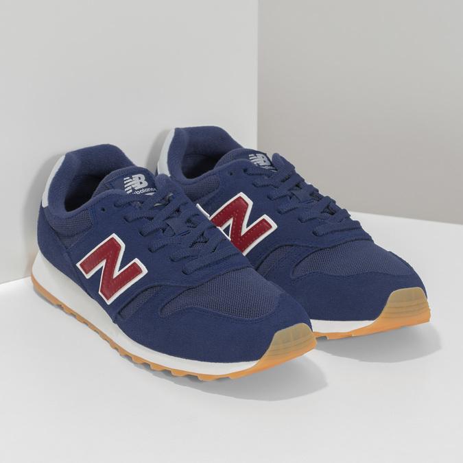 Pánske modré kožené tenisky New Balance new-balance, modrá, 803-9207 - 26