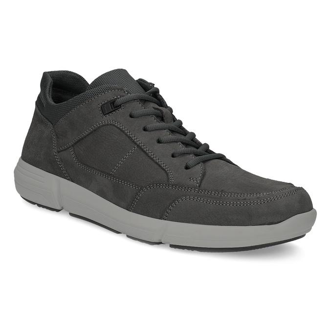 Kožené čierne pánske tenisky bata-light, šedá, 846-2712 - 13