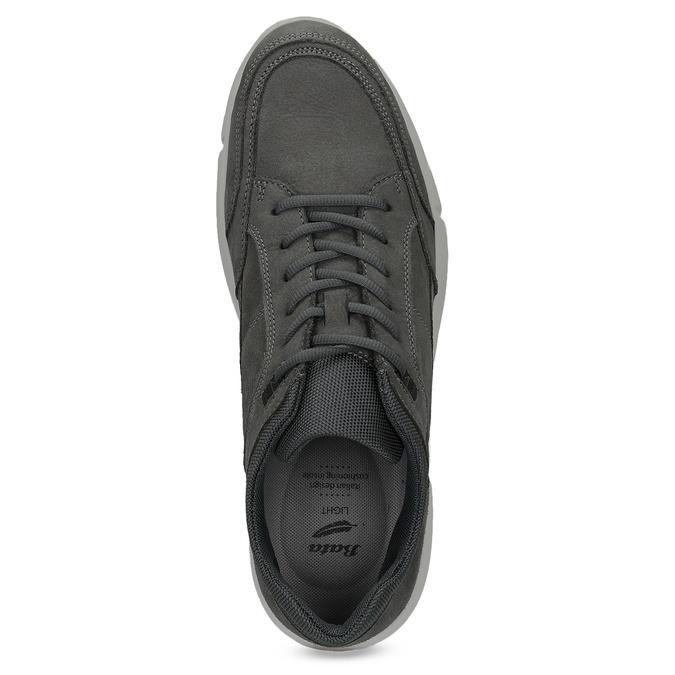 Kožené čierne pánske tenisky bata-light, šedá, 846-2712 - 17