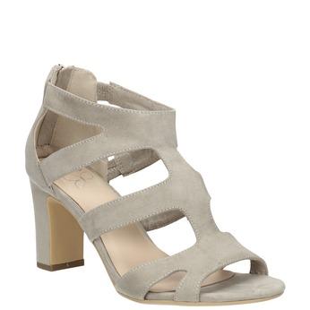 Sandále na stabilnom podpätku insolia, béžová, 769-8617 - 13