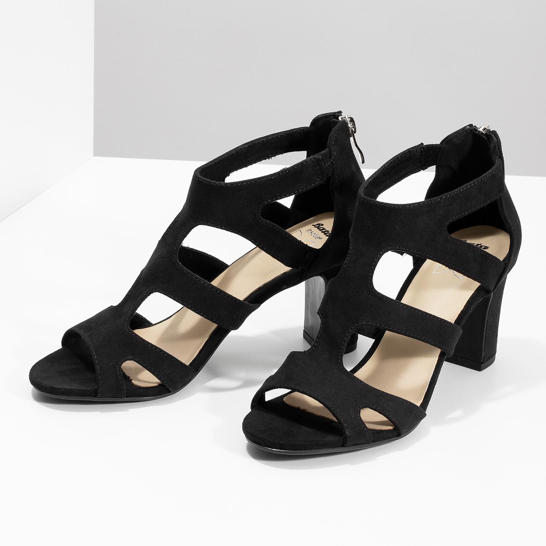 5cdfc7f7ffe8e ... Čierne sandále na stabilnom podpätku insolia, čierna, 769-6617 - 16 ...