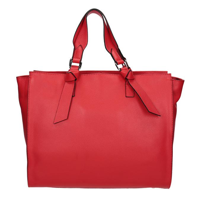 Červená kožená kabelka bata, červená, 964-5296 - 26