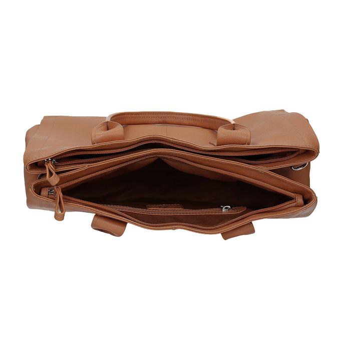 Svetlo hnedá kožená kabelka bata, hnedá, 964-3298 - 15