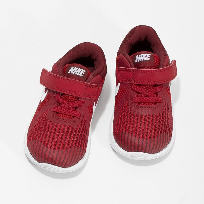 Nike Červené detské tenisky na suchý zips - Všetky detské topánky ... b285388eb7c