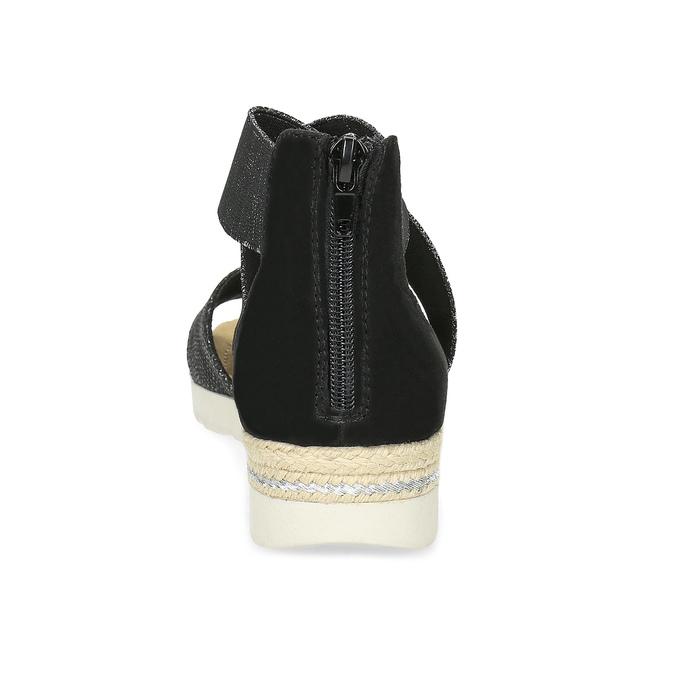 Čierno-strieborné dámske sandále bata, čierna, 569-6608 - 15