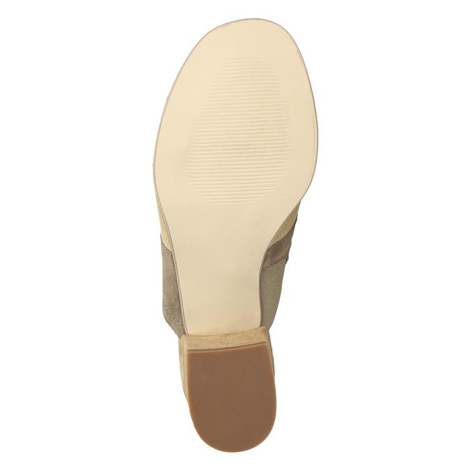 Kožené nazuváky na podpätku hnedé bata, hnedá, 666-4625 - 19