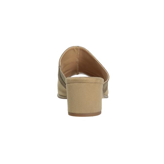 Kožené nazuváky na podpätku hnedé bata, hnedá, 666-4625 - 15