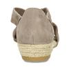 Kožené sandále na kline bata, hnedá, 563-4600 - 15