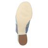 Kožené modré nazuváky na podpätku bata, modrá, 666-9625 - 19