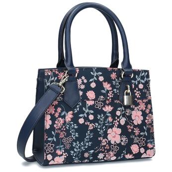 Modrá kabelka s kvetinovým vzorom bata-red-label, modrá, 961-9860 - 13