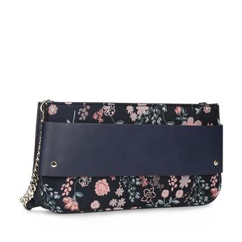 Kvetinová listová kabelka s retiazkou bata-red-label, modrá, 961-9859 - 13
