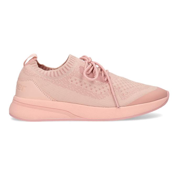 Dámske svetlé ružové tenisky z úpletu power, ružová, 509-5217 - 19