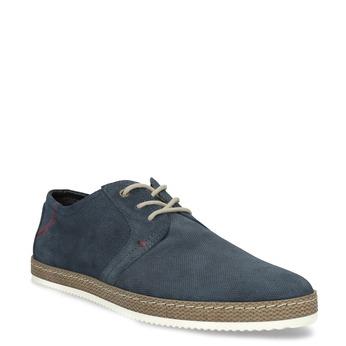 Tmavomodré kožené tenisky s perforáciou bata, modrá, 823-9617 - 13
