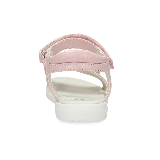 Ružovo-biele dievčenské sandále s kvetmi mini-b, ružová, 261-5615 - 15