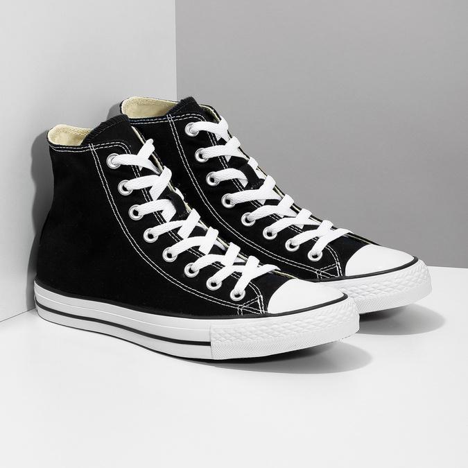 Dámske členkové tenisky s gumovou špičkou converse, čierna, 589-6278 - 26
