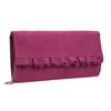 Ružová listová kabelka s volánmi bata, ružová, 969-5687 - 13
