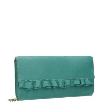 Tyrkysová listová kabelka s volánom bata, 969-9687 - 13