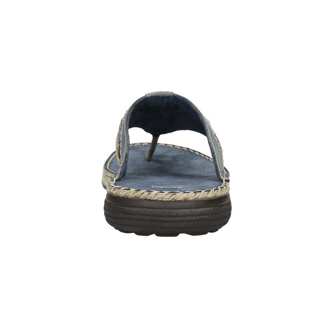 Prešívané kožené pánske žabky bata, šedá, 866-9845 - 15
