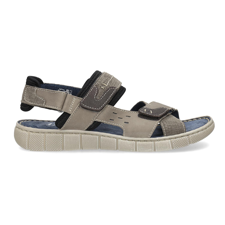 26914898e3ae Baťa Kožené šedé sandále na suchý zips - Všetky topánky