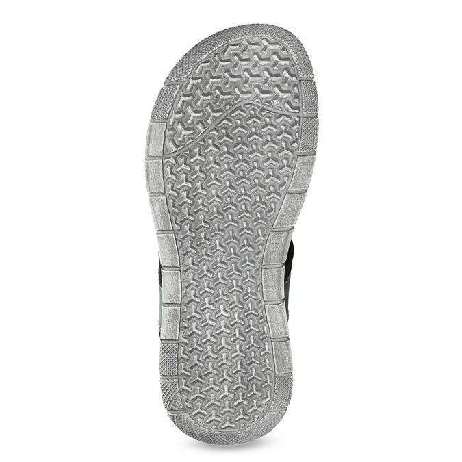 Modré kožené pánske sandále na suchý zips bata, šedá, 866-9640 - 18
