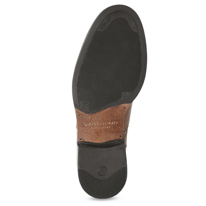 Dámska hnedá kožená Chelsea obuv vagabond, hnedá, 514-3002 - 18