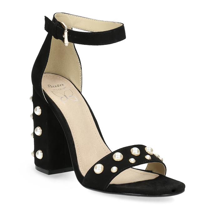 3297aba3fc17 Insolia Dámske sandále na širokom podpätku s perličkami - Ženy